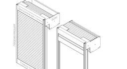 Мебельные жалюзи BOX + направляющие Top Basic