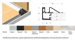 Направляющие Frame вертикальный ход на заднюю стенку + улитка
