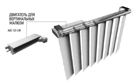 Вертикальные жалюзи с электроприводом