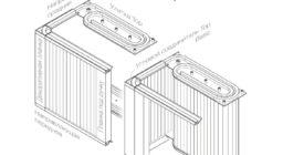 Направляющие Top Basic горизонтальный ход на заднюю стенку + улитка