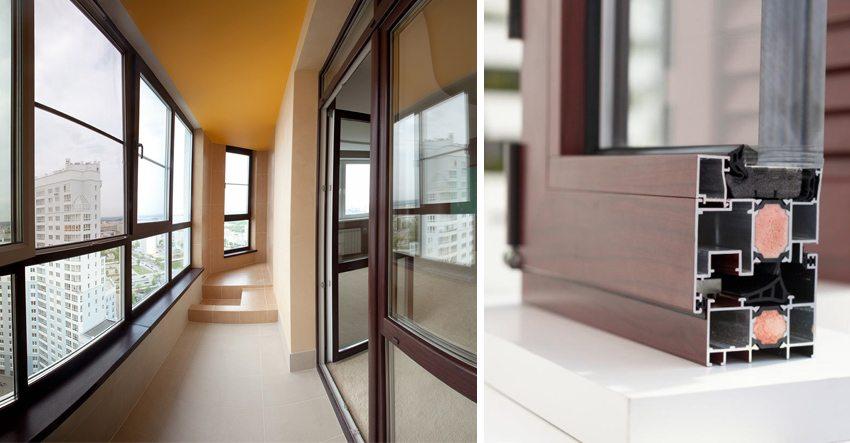 Холодное остекление балкона алюминиевым профилем