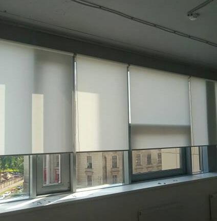 Рулонные шторы свободновисящие для офисных помещений