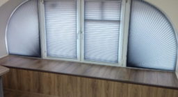 шторы плиссе сложной формы для офиса