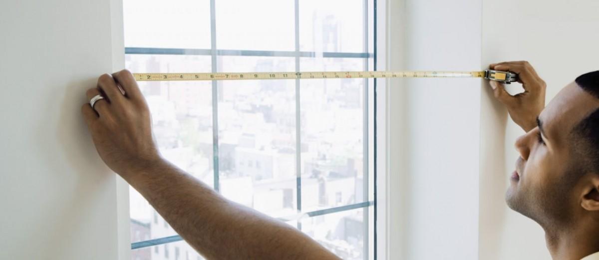 Как снять мерки при настенном и потолочном способе монтажа