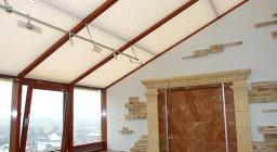 Мансардные шторы плиссе
