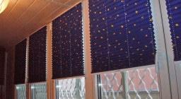 Натяжные шторы плиссе