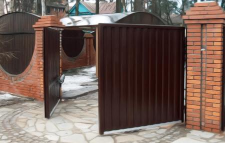 Распашные дачные ворота