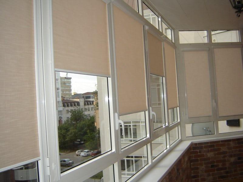 Рулонные шторы для балкона