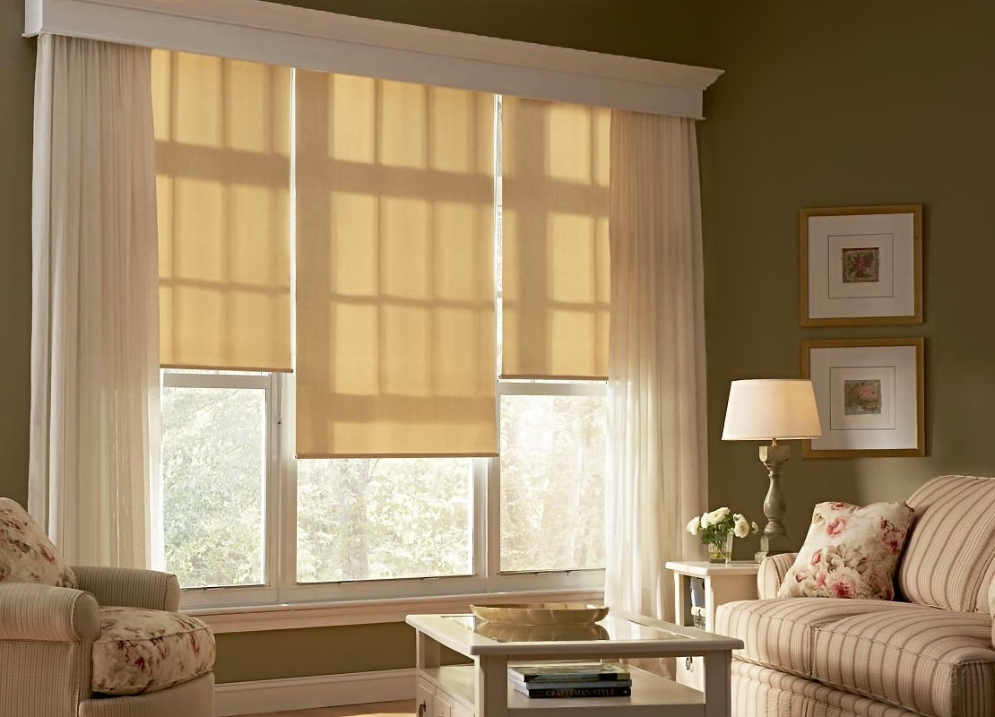 Рулонные шторы для гостиной