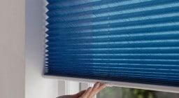 Свободновисящие шторы плиссе