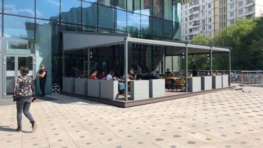 Установка летнего кафе