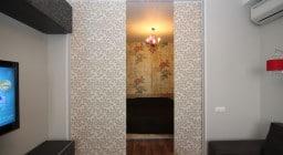 Японские шторы для зонирования комнаты
