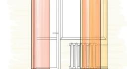 Японские шторы на балкон