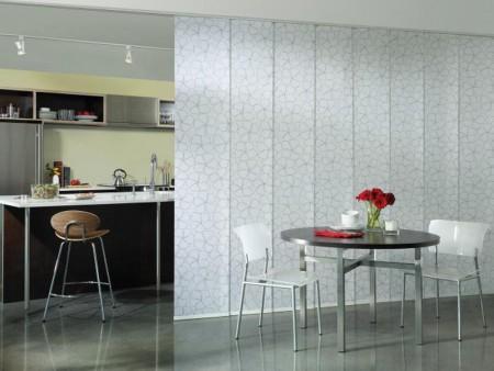 Японские шторы на кухню