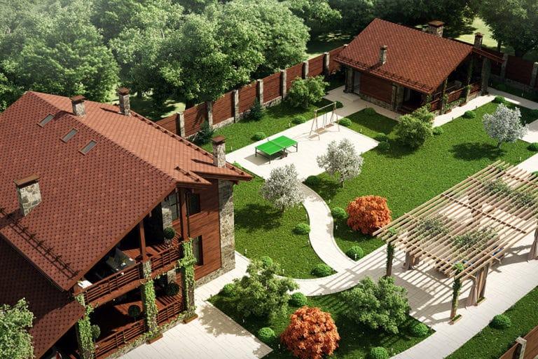 дизайн участка загородного дома