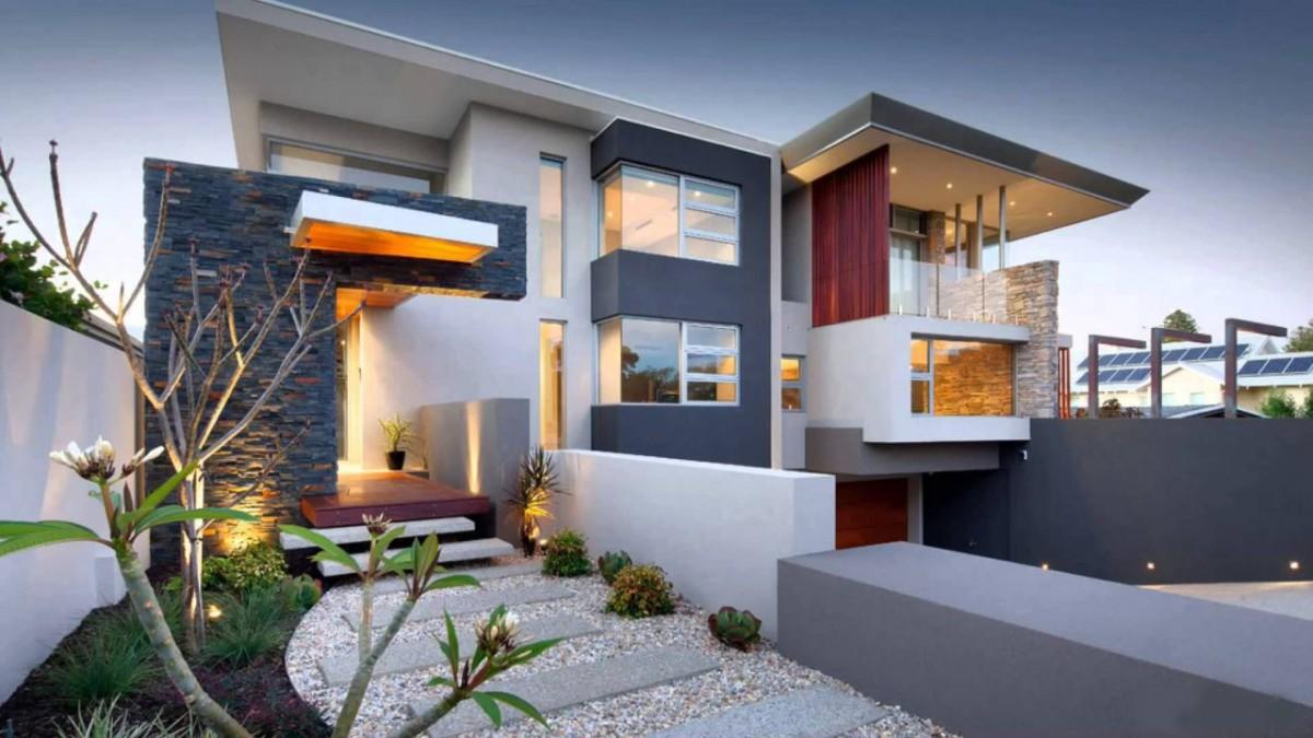 экстерьер дома в стиле хай-тек