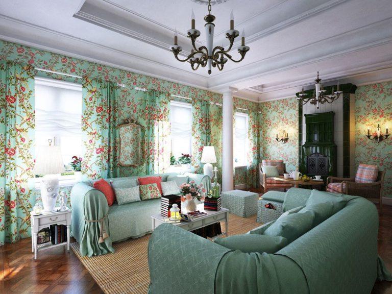 гостиной в стиле прованс