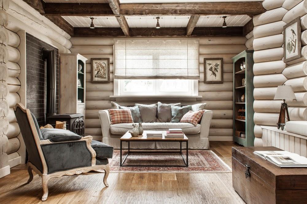 интерьера для деревянного дома