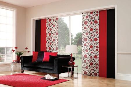 декор дизайн оформление окна экран японские материал ткань цвет расцветка